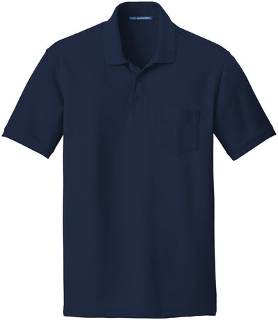 Port Authority-Core Classic Pique Pocket Polo-S-River Blue Navy-Thread Logic