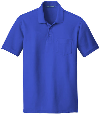 Port Authority-Core Classic Pique Pocket Polo-S-True Royal-Thread Logic