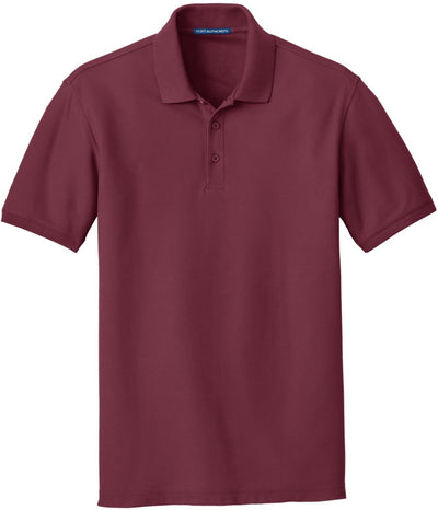 Port Authority-Core Classic Pique Polo-S-Burgundy-Thread Logic
