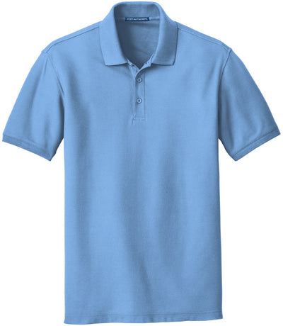 Port Authority-Core Classic Pique Polo-S-Carolina Blue-Thread Logic