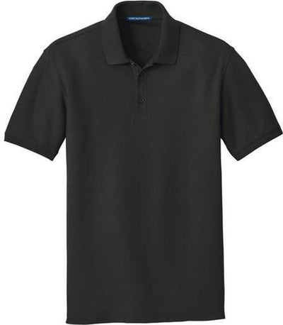 Port Authority-Core Classic Pique Polo-S-Deep Black-Thread Logic