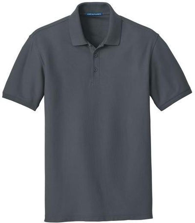 Port Authority-Core Classic Pique Polo-S-Graphite-Thread Logic
