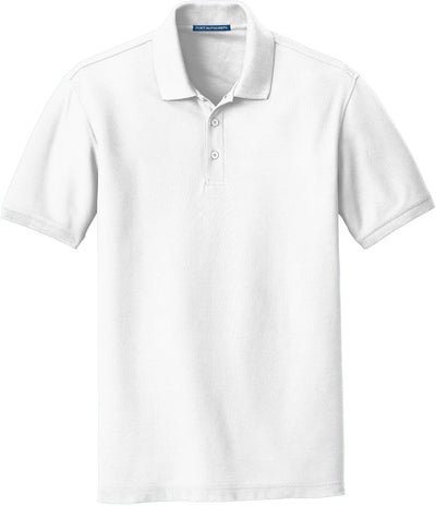 Port Authority-Core Classic Pique Polo-S-White-Thread Logic
