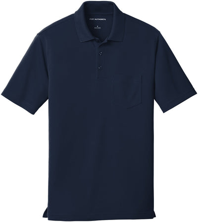 Port Authority-Dry Zone UV Micro-Mesh Pocket Polo-S-River Blue-Thread Logic