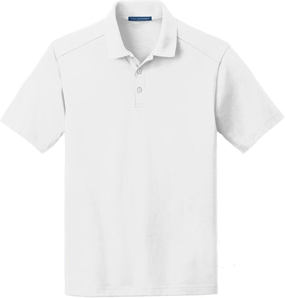 Port Authority-SuperPro Knit Polo-S-White-Thread Logic