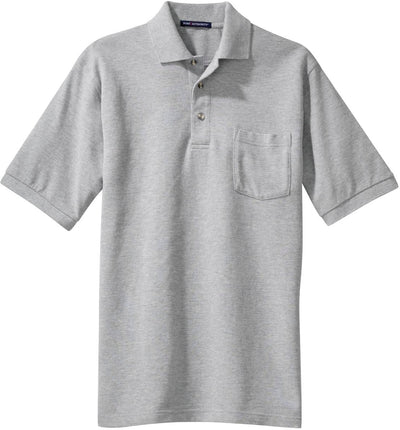 Oxford Pique Knit Polo Shirt with Pocket