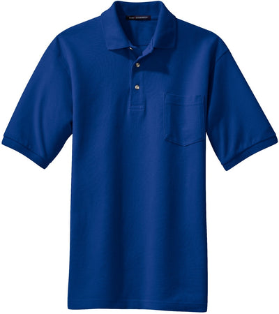 Royal Pique Knit Polo Shirt with Pocket