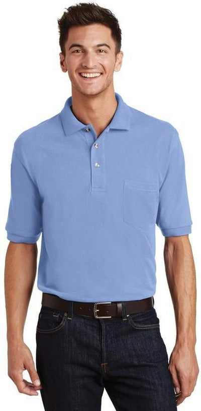Port Authority-Pique Knit Polo Shirt with Pocket-Thread Logic no-logo