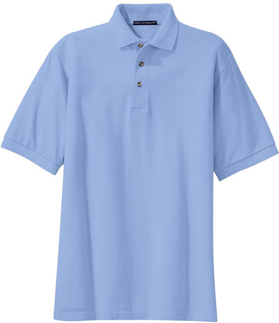Port Authority-Pique Knit Polo Shirt-S-Light Blue-Thread Logic