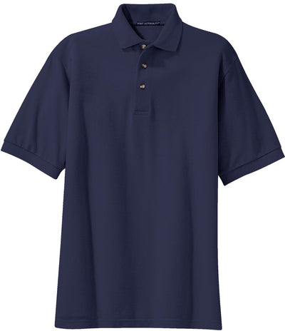 Port Authority-Tall Pique Knit Polo Shirt-LT-Navy-Thread Logic