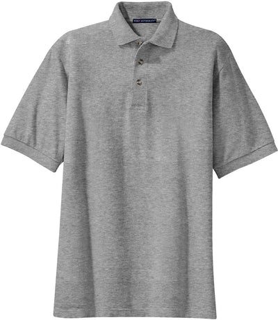 Port Authority-Pique Knit Polo Shirt-S-Oxford-Thread Logic