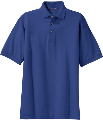 Port Authority-Pique Knit Polo Shirt-S-Royal-Thread Logic