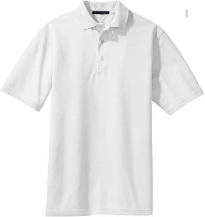 Port Authority-Rapid Dry Polo Shirt-S-White-Thread Logic