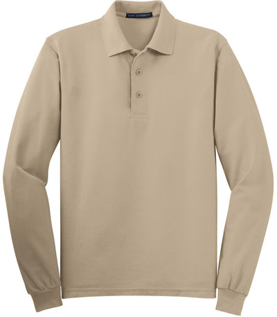 Stone Silk Touch Long Sleeve Polo