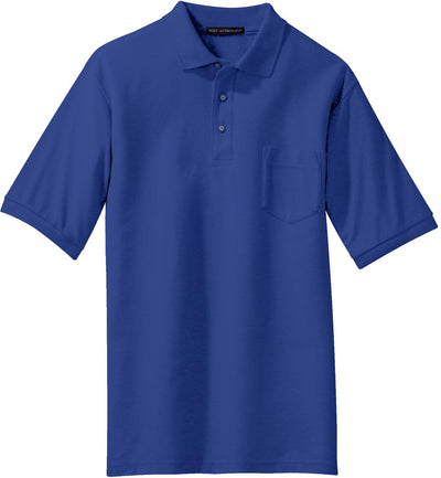 Port Authority-Silk Touch Polo Shirt with Pocket-S-Royal-Thread Logic