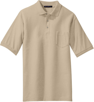 Port Authority-Silk Touch Polo Shirt with Pocket-S-Stone-Thread Logic