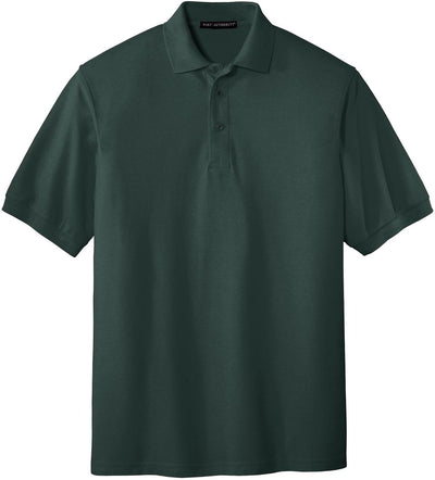 Port Authority-Silk Touch Polo-S-Dark Green-Thread Logic
