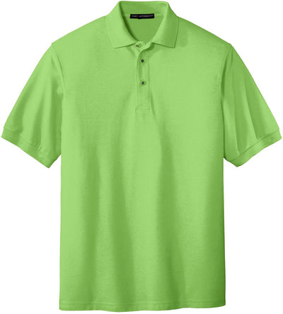 Port Authority-Silk Touch Polo-S-Lime Green-Thread Logic
