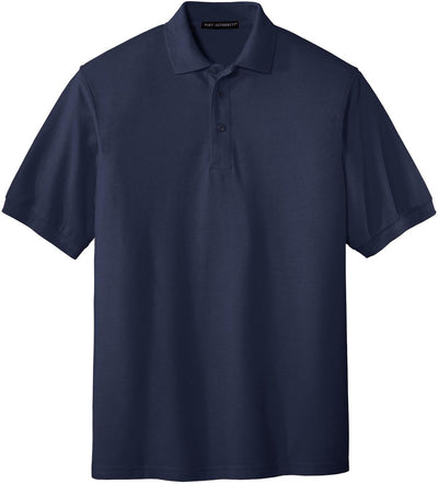 Port Authority-Silk Touch Polo-S-Navy-Thread Logic