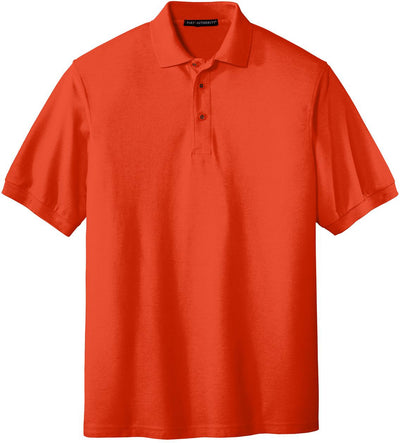 Port Authority-Silk Touch Polo-S-Orange-Thread Logic
