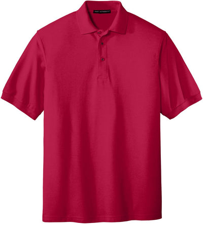 Port Authority-Silk Touch Polo-S-Red-Thread Logic