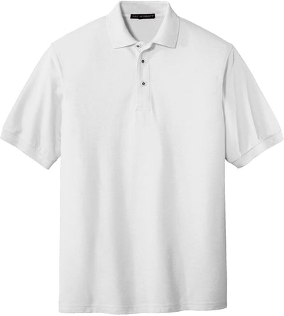 Port Authority-Silk Touch Polo-S-White-Thread Logic