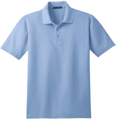 Port Authority-Stain-Resistant Polo Shirt-S-Light Blue-Thread Logic