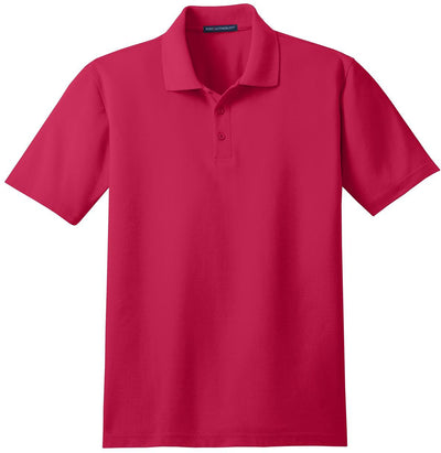 Port Authority-Stain-Resistant Polo Shirt-S-Red-Thread Logic