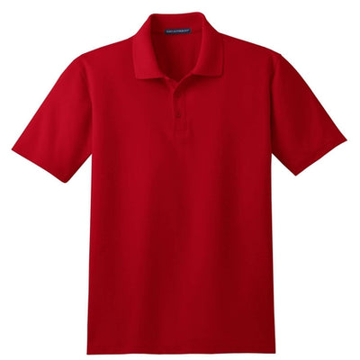 Port Authority-Tall Stain-Resistant Polo Shirt-LT-Red-Thread Logic