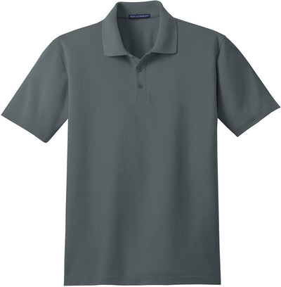 Port Authority-Stain-Resistant Polo Shirt-S-Steel Grey-Thread Logic