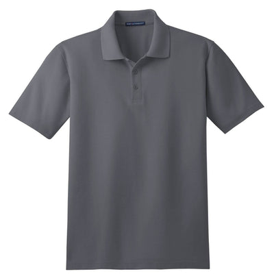 Port Authority-Tall Stain-Resistant Polo Shirt-LT-Steel Grey-Thread Logic