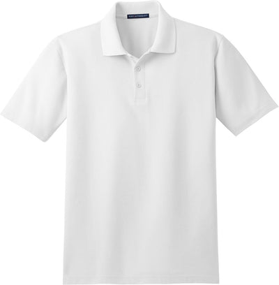 Port Authority-Stain-Resistant Polo Shirt-S-White-Thread Logic