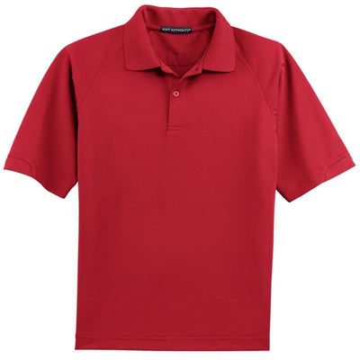 Port Authority-Dry Zone Ottoman Polo Shirt-S-Red-Thread Logic