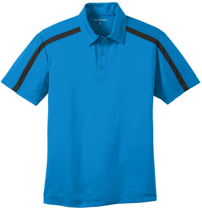Port Authority-Silk Touch Performance Colorblock Stripe-S-Brilliant Blue/Black-Thread Logic