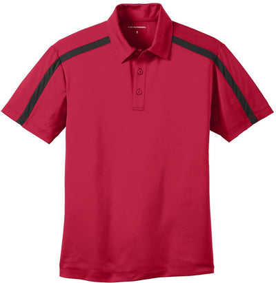 Port Authority-Silk Touch Performance Colorblock Stripe-S-Red/Black-Thread Logic