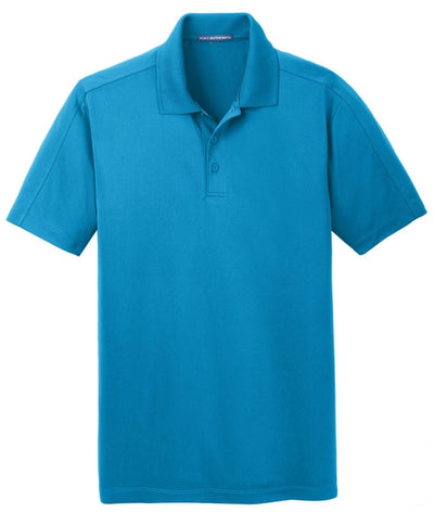 Port Authority-Diamond Jacquard Polo-S-Blue Wake-Thread Logic