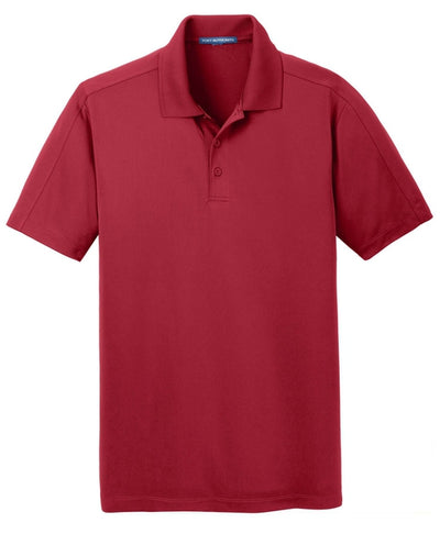 Port Authority-Diamond Jacquard Polo-S-Rich Red-Thread Logic