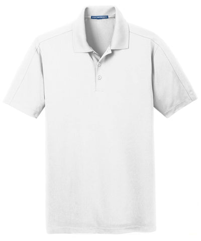 Port Authority-Diamond Jacquard Polo-S-White-Thread Logic
