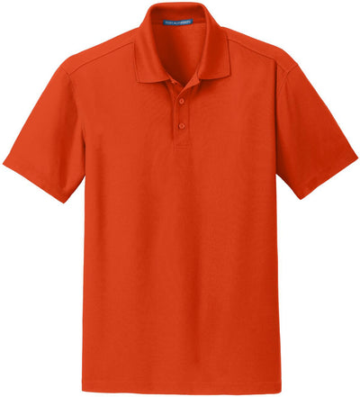 Port Authority-Dry Zone Grid Polo-S-Autumn Orange-Thread Logic