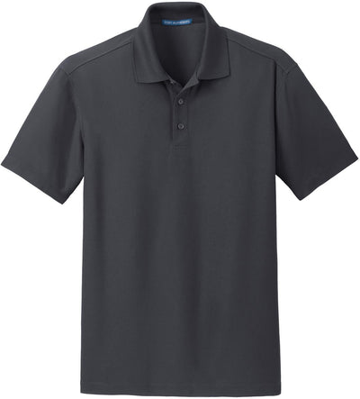 Port Authority-Dry Zone Grid Polo-S-Battleship Grey-Thread Logic