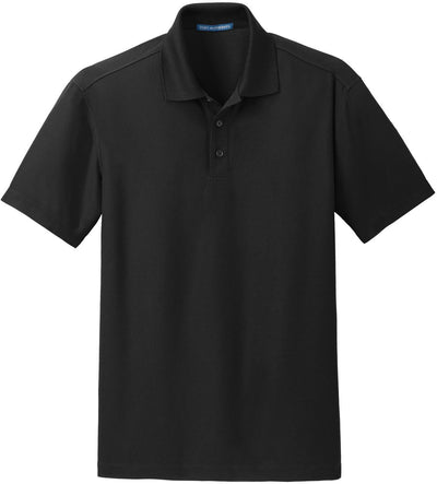 Port Authority-Dry Zone Grid Polo-S-Black-Thread Logic
