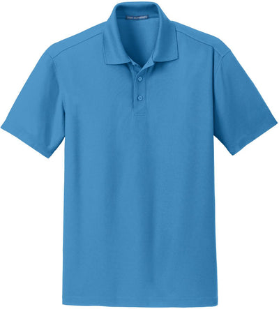 Port Authority-Dry Zone Grid Polo-S-Celadon Blue-Thread Logic