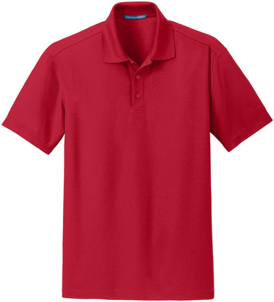 Port Authority-Dry Zone Grid Polo-S-Engine Red-Thread Logic