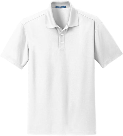 Port Authority-Dry Zone Grid Polo-S-White-Thread Logic