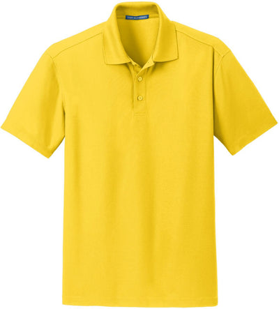 Port Authority-Dry Zone Grid Polo-S-Yellow-Thread Logic