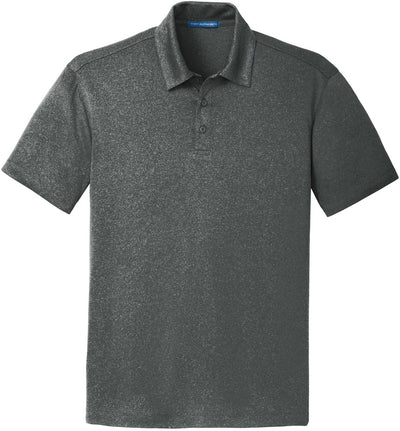 Port Authority-Trace Heather Polo-S-Charcoal Heather-Thread Logic