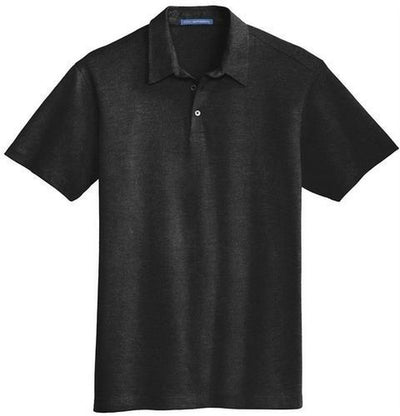 Port Authority-Meridian Cotton Blend Polo Shirt-S-Black-Thread Logic