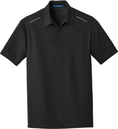 Black Pinpoint Mesh Polo