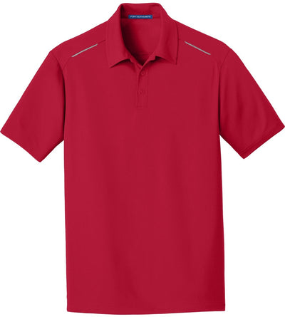 Port Authority-Pinpoint Mesh Polo-S-Rich Red-Thread Logic