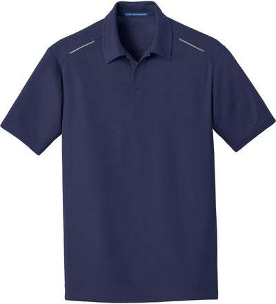 True Navy Pinpoint Mesh Polo